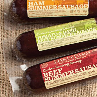 Dakin Farm Summer Sausage Packaging