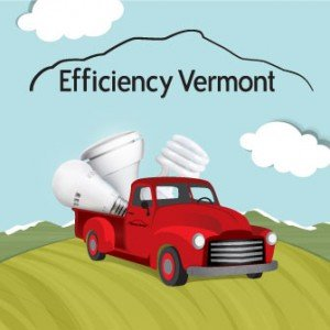 Efficiency Vermont Red Truck with Lightbulbs