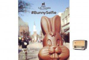 Bunny Selfie from Lake Champlain Chocolates