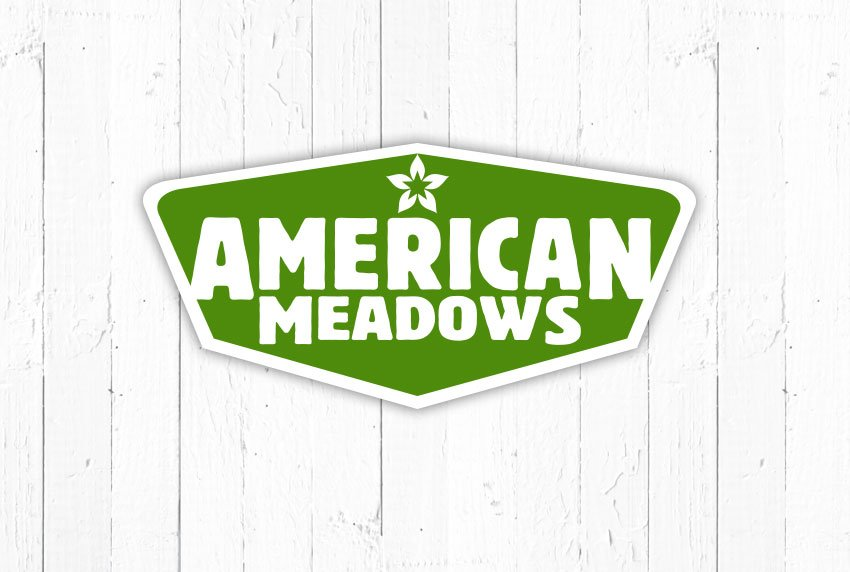 American Meadows Logo with White Board