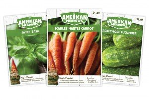 American Meadows Carrot, Basil, and Cucumber Seed Packaging