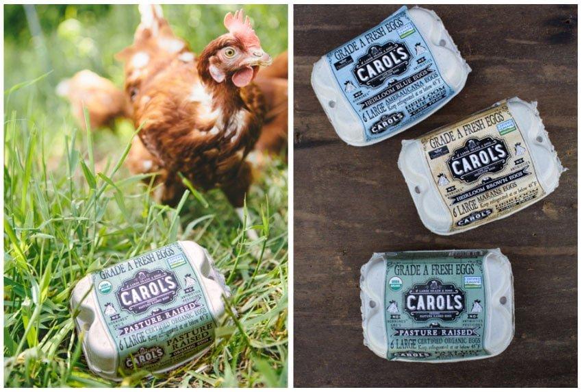 Carol's Eggs Packaging