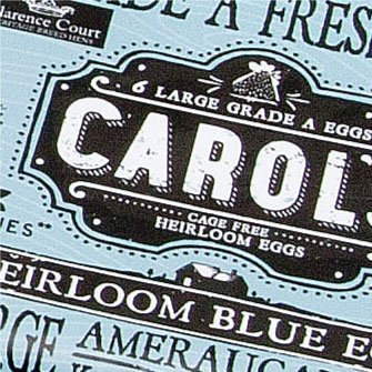 Carol's Heirloom Blue Egg Packaging