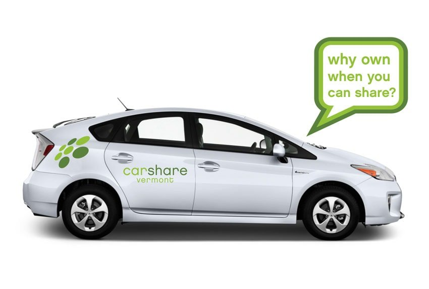 CarShare Vermont Car Advertising