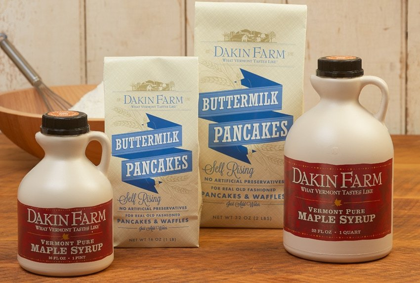 Dakin Farm Buttermilk Pancakes and Vermont Pure Maple Syrup