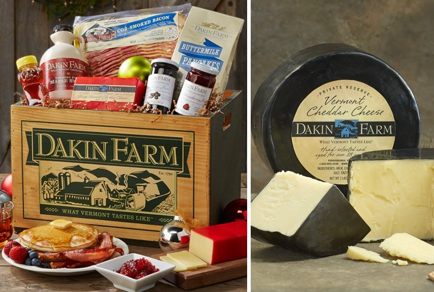 Dakin Farm Wooden Gift Box and Cheese Wheel
