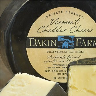 Dakin Farm Cheddar Cheese Packaging
