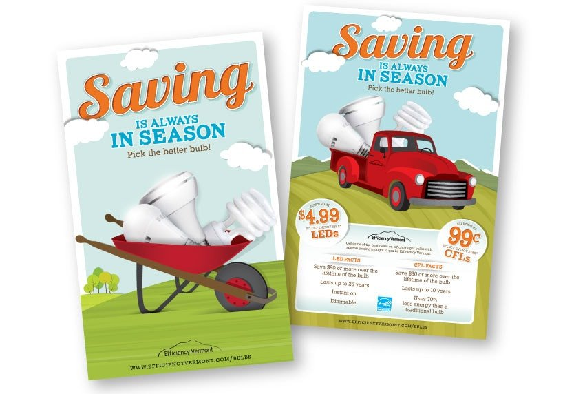 Efficiency Vermont - Saving in Season Posters