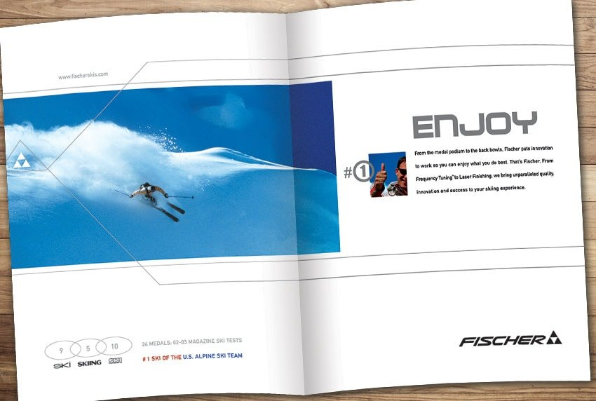 Fischer Skis Brochure Design