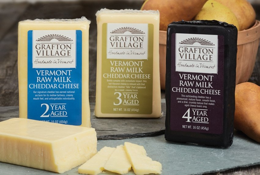Grafton Village Cheese - Raw Milk Cheese Packaging
