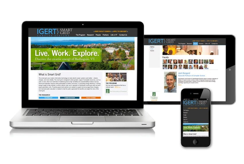 Smart Grid Website on All Devices