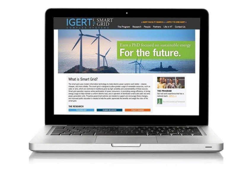 Smart Grid Website on Laptop