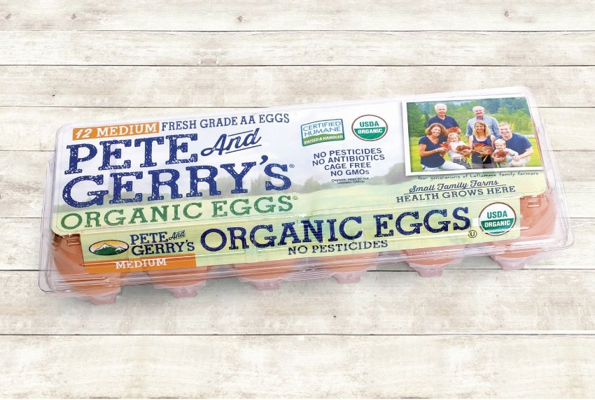 Pete and Gerry's Organic Eggs Packaging