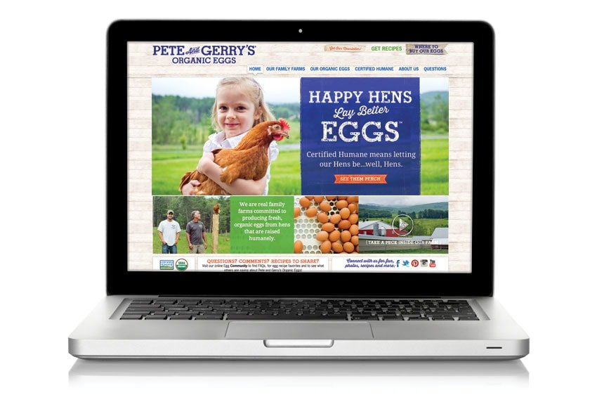 Pete and Gerry's Organic Eggs Website
