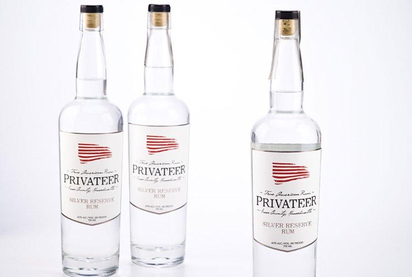 Silver Reserve Privateer Rum Branding