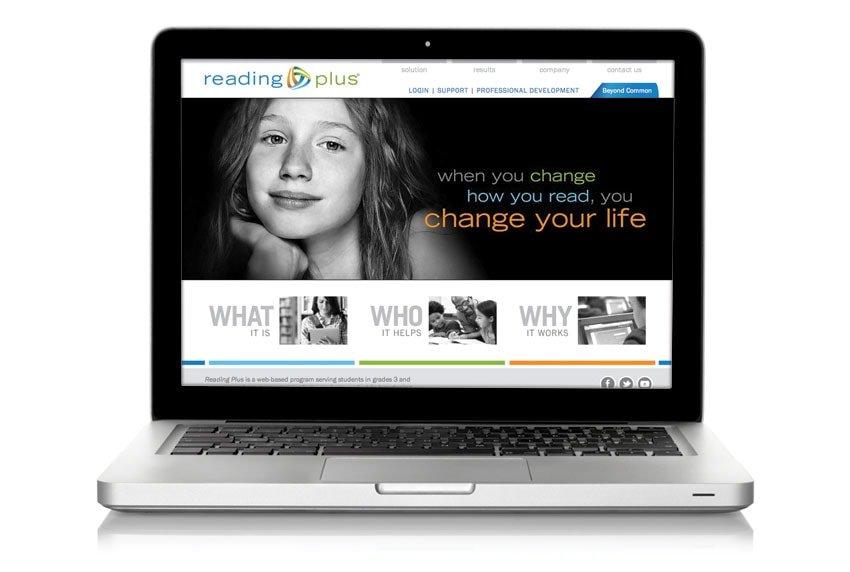 Reading Plus Website on Laptop