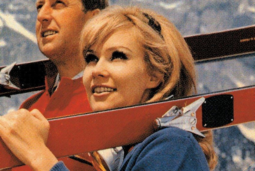 Rossignol Man & Woman Ski Advertising