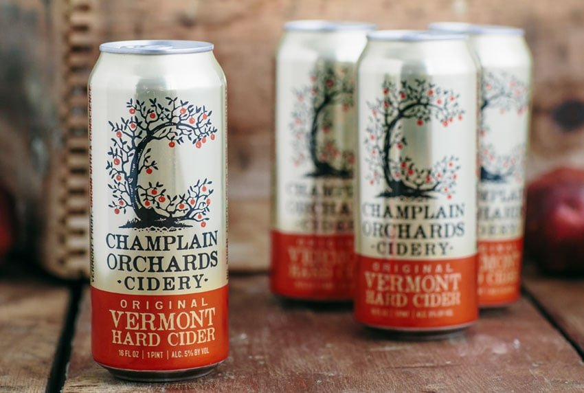 Champlain Orchards Cidery - Can Packaging