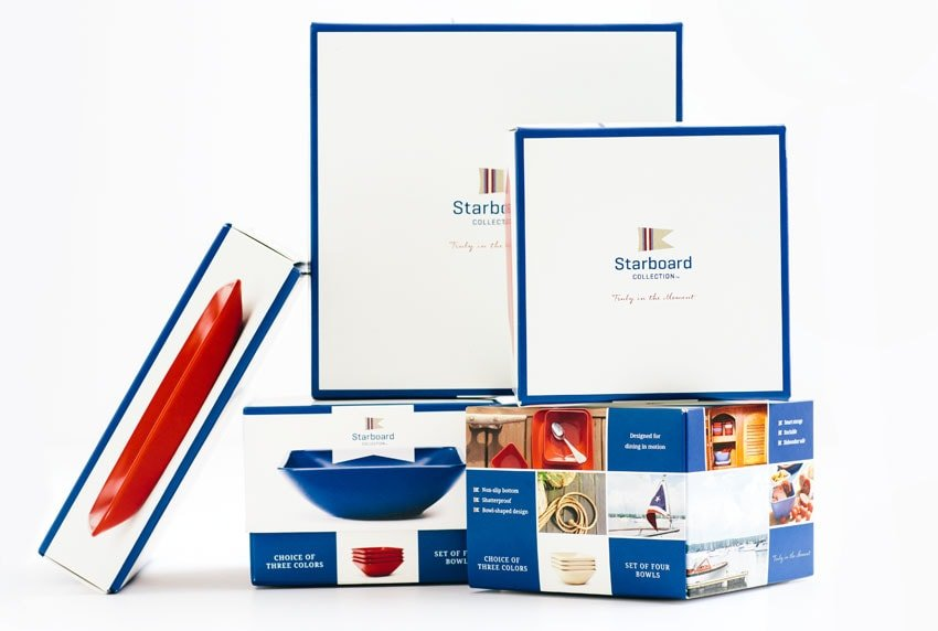 Starboard Collection - Tray and Bowl Packaging