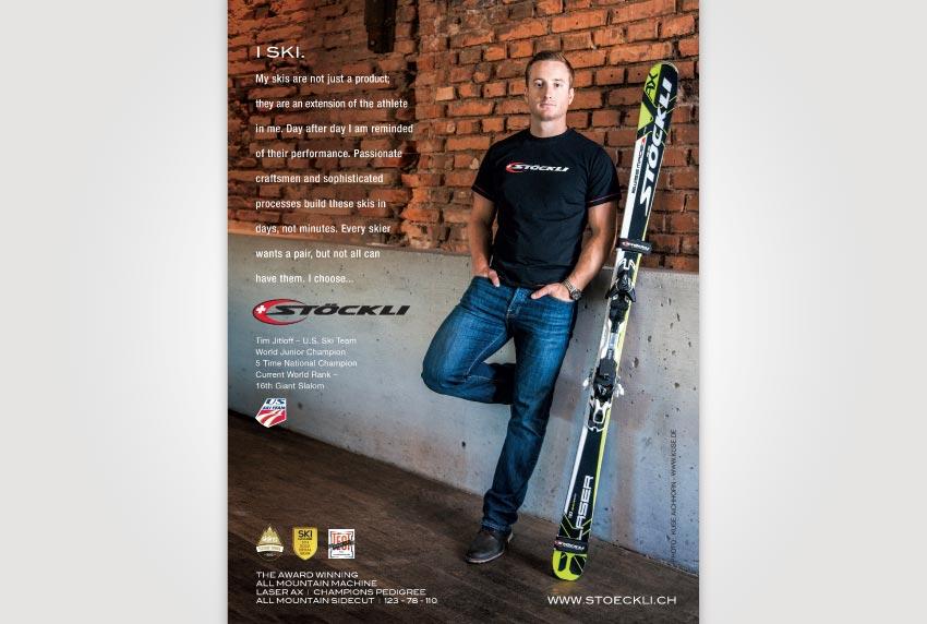 Stockli Print Ad with Tim Jitloff