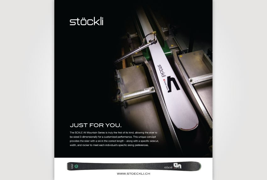 Stockli Print Ad - Custom Skis