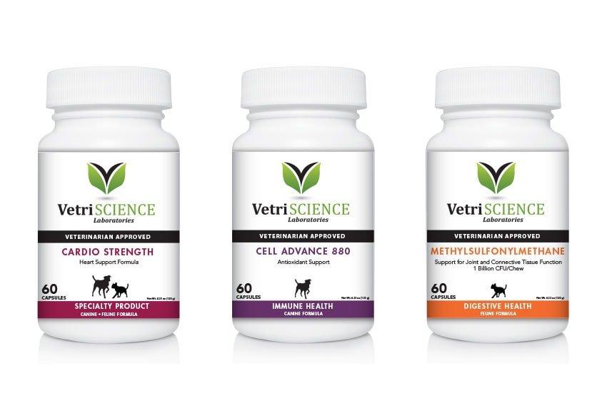 VetriScience Laboratories Supplement Packaging