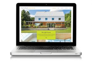 Harry Hunt Website on Laptop