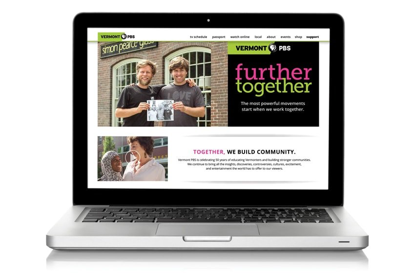 Vermont PBS Website on Laptop